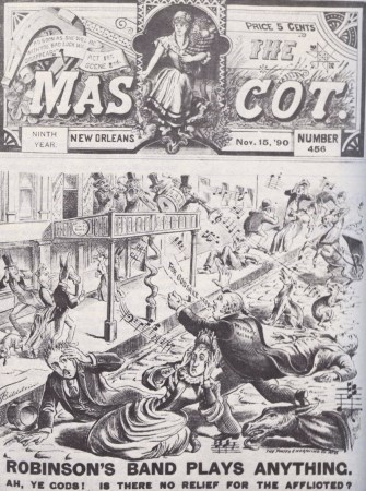 """New Orleans newspapwer """"The Mascot"""", cover for 1890-11-15 (source: Wikimedia commons)"""