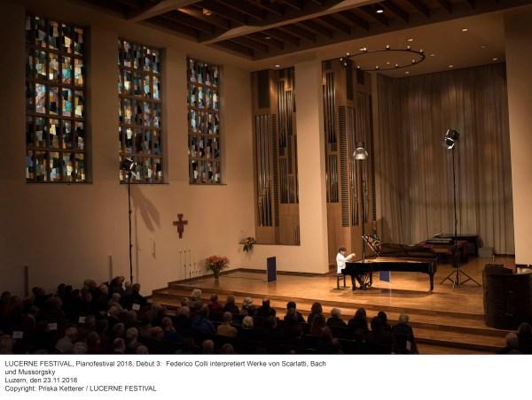 Federico Colli @ Lucerne Festival, Lukaskirche, 2018-11-23 (© Priska Ketterer / LUCERNE FESTIVAL)