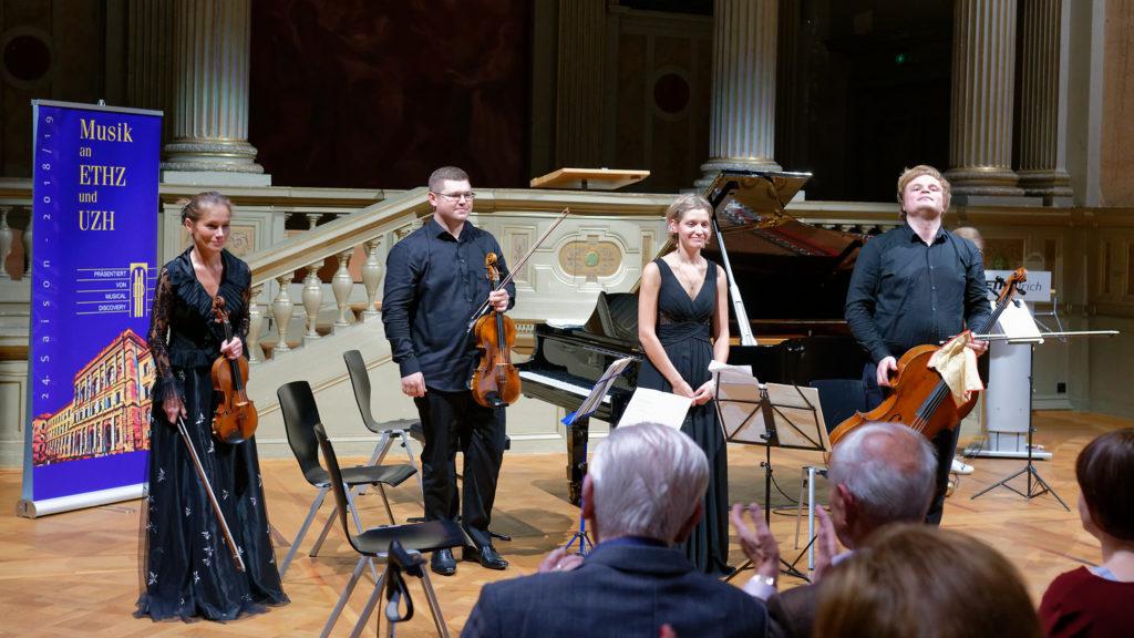 Marina Yakovleva, Mikhail Yakovlev, Nadezhda Dalvit-Saminskaya, Lev Sivkov —ETH Zurich, 2018-10-23 (© Rolf Kyburz)