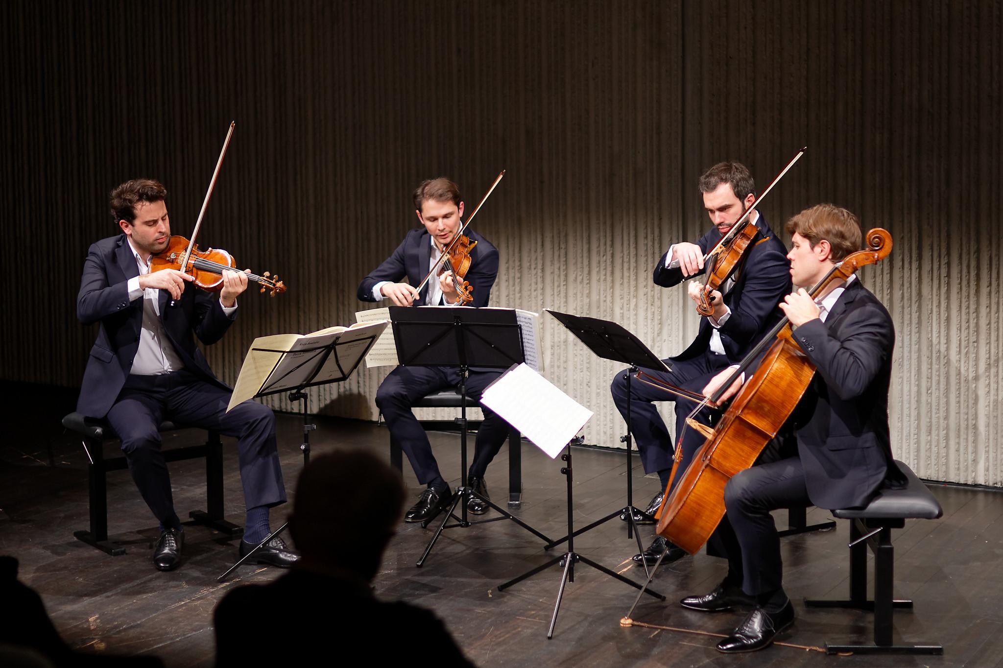 Quatuor Modigliani, Lugano, 2019-03-17 (© Rolf Kyburz)