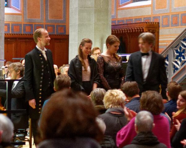 Elias: Peter Schöne, Angela Vallone, Dorottya Láng, Uwe Münch, St.Laurenzenkirche, 2019-04-14 (© Rolf Kyburz)