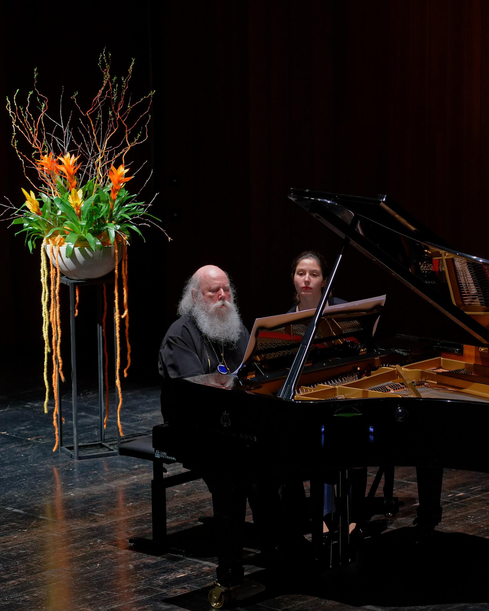Werner Bärtschi (& Alina Bercu) @ Klavierissimo Festival, Wetzikon ZH, 2020-01-29 (© Rolf Kyburz)