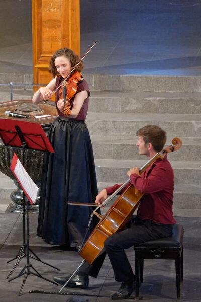 Esther Fritzsche & Jonas Vischi (Belenus Quartet) @ St.Peter, Zurich, 2021-09-05 (© Rolf Kyburz)