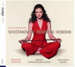 Shostakovich, Weinberg & Kobekin, Works for Cello & Orchestra — Anastasia Kobekina, Edusei / BSO: CD cover