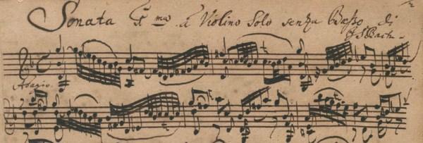 Bach: Sei Solo, Sonata No.1 for Violin Solo in G minor, BWV 1001, I. Adagio, score sample