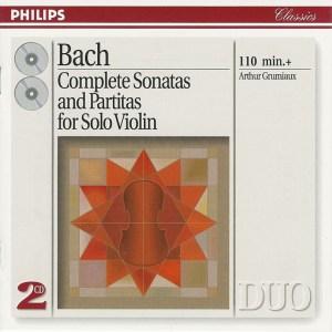 J.S. Bach, Sonatas & Partitas —Arthur Grumiaux (CD cover)