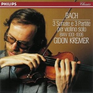 J.S. Bach, Sonatas & Partitas —Gidon Kremer, 1980 (CD cover)