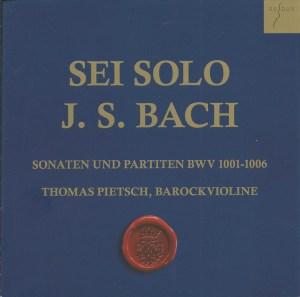 J.S. Bach, Sonatas & Partitas —Thomas Pietsch (CD cover)