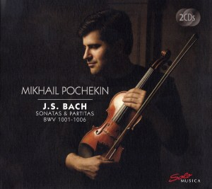 J.S. Bach, Sonatas & Partitas —Mikhail Pochekin (CD cover)