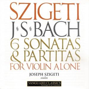 J.S. Bach, Sonatas & Partitas —Joseph Szigeti (CD cover)