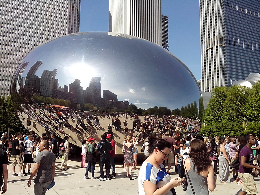 Cloud Gate, nicknamed The Bean