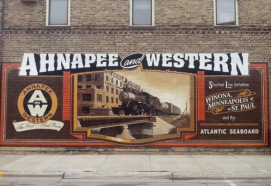 Rail fan mural