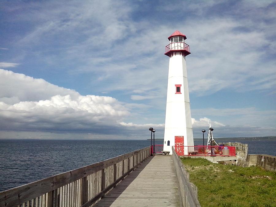 Lighthouse in St Ignace harbor