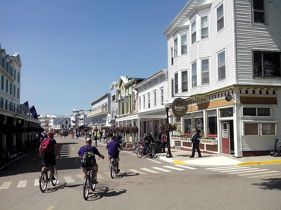 Bicycles on Main street