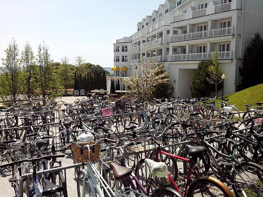 Grand Hotel parking lot