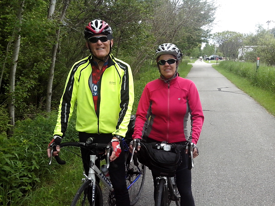 Tom & Jan, also riding around Lake Michigan