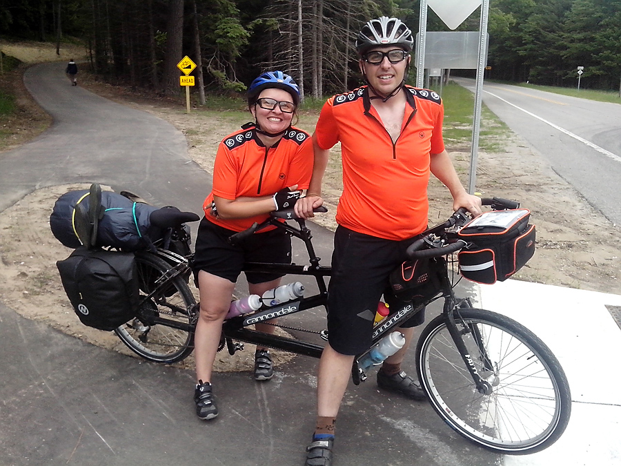 Tandem on a weekend tour