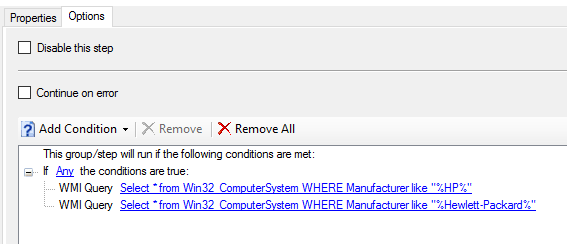 Configure HP Bios during OSD  