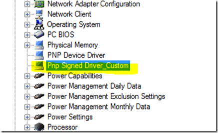 Collect Driver information with SCCM |