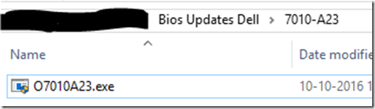 Update Dell bios during OSD |