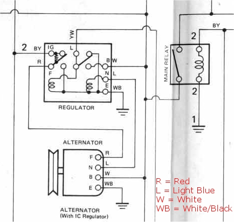 alternator wiring diagram external regulator wiring diagram thesamba beetle 1958 1967 view topic alternator plug ford regulator wiring