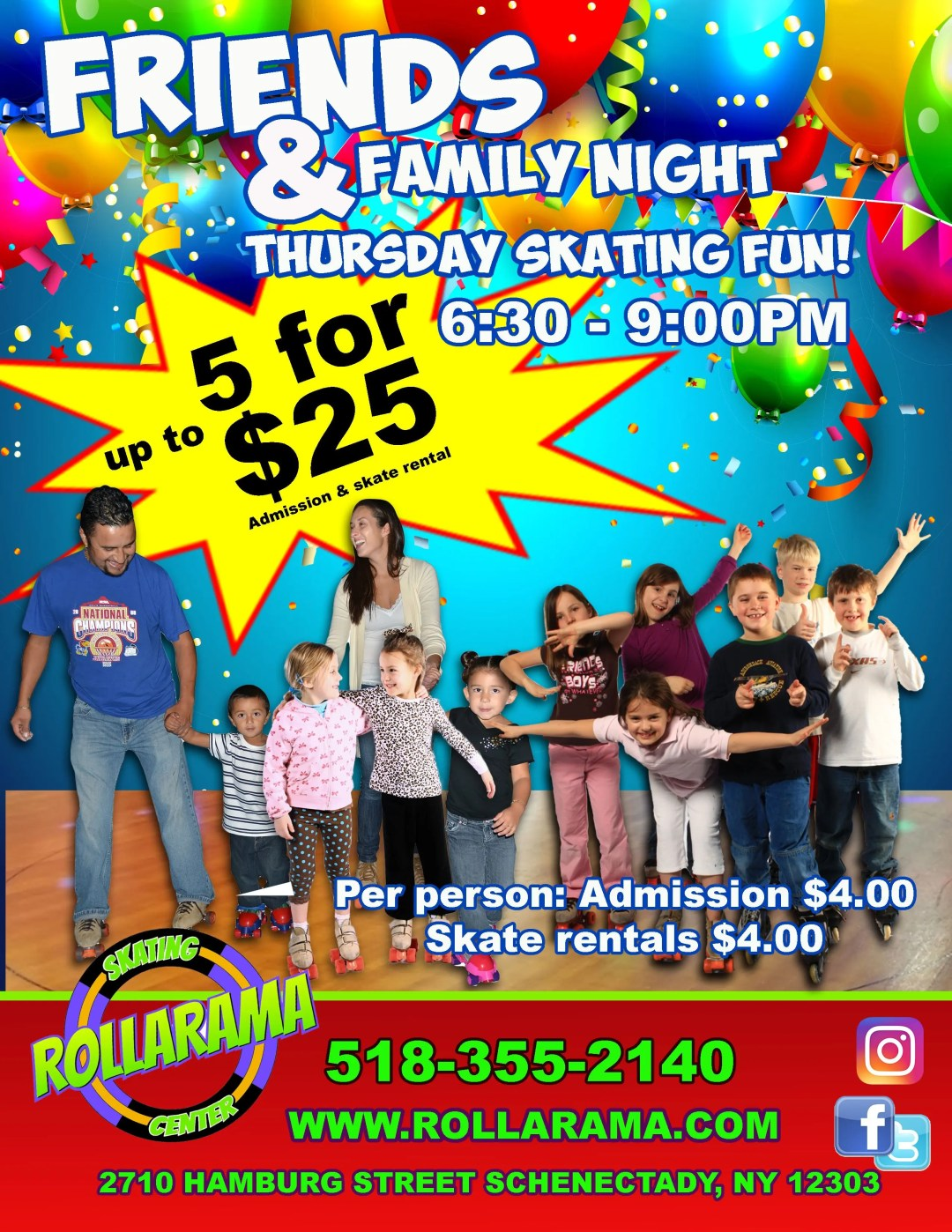 Friends and Family Skate Thursday Nights at Rollarama