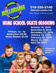 Home School Skate SEssion flyer