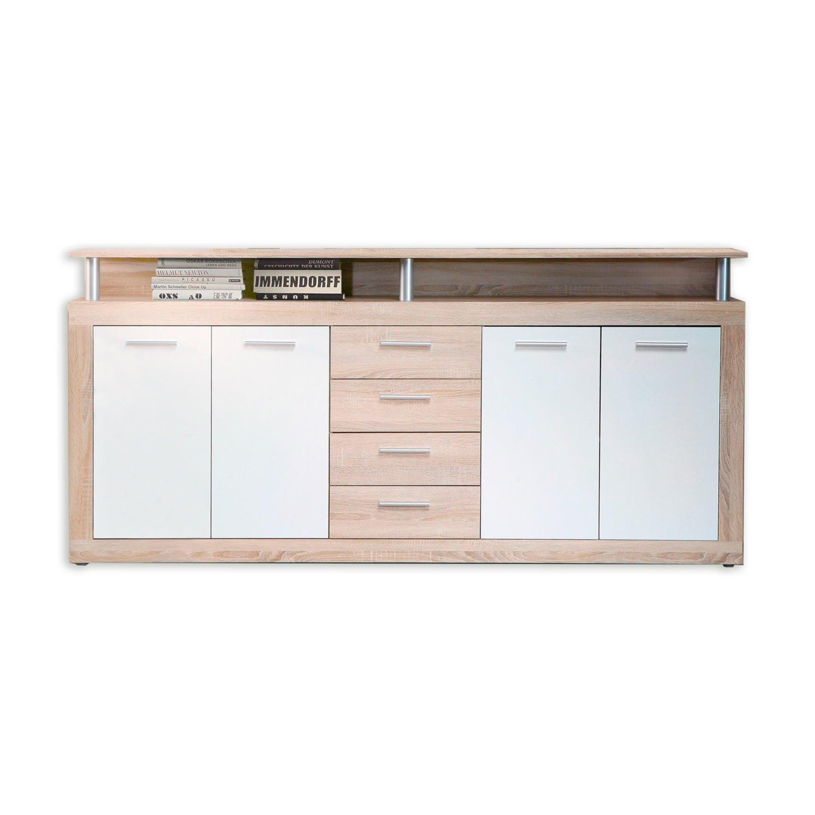 great sideboard cava eiche sonoma cm breit with highboard wei hochglanz gnstig