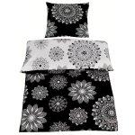 """Renforcé-Bettwäsche EXCLUSIV – schwarz-grau – Mandala – 135×200 cm bei """"Möbel Roller"""" bestellen"""