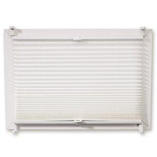Plissee - weiß - mit Klemmträger - 70x130 cm