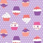 "Stoff – lila – Cupcakes – Meterware bei ""Möbel Roller"" bestellen"