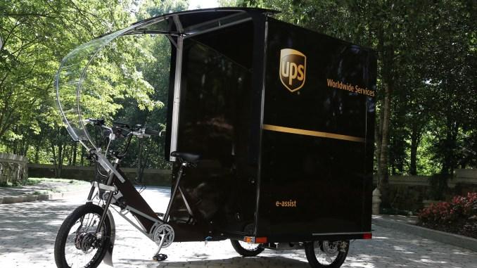 UPS eBike Delivering Packages Fort Lauderdale, FL