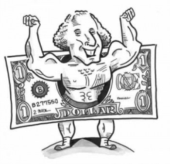 Cartoon-Strong-Man-Dollar-Bill