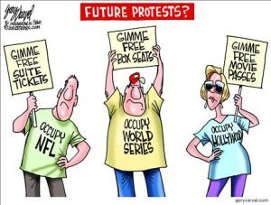 future protests for free stuff