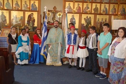 greek children in national dress