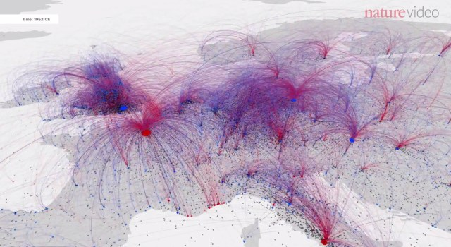 The flocking to the urban centres of Europe