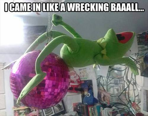 i came in like a wrecking ball