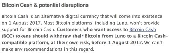 bitcoin cash notification