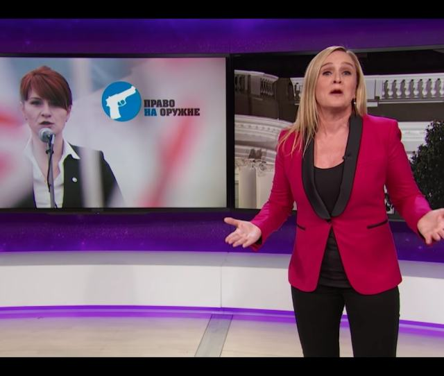 Samantha Bee Recapped The Bad Movie Plot Of Maria Butina The  Year Old Russian Activist Who Allegedly Infiltrated The Gop And Nra