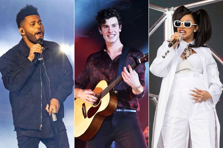 The Weeknd, Shawn Mendes and Cardi B global citizen