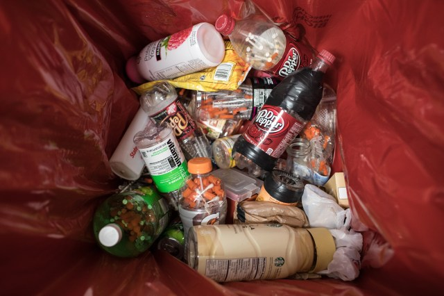 ANCHORAGE, ALASKA --Tuesday, July 31, 2018: Needles disposed in closed containers at the needle exhcange, a program facilitated by the Four A's in Anchorage, Alaska./ASH ADAMS