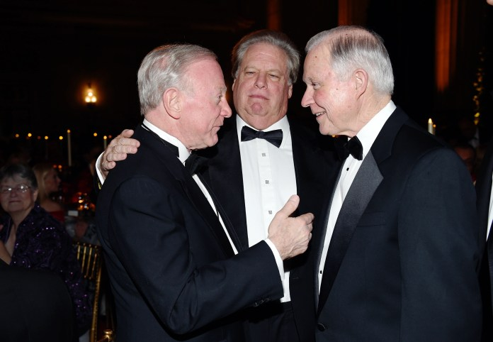 Larry Mizel, Elliott Broidy, Senator Jeff SessionsChairman's Global Dinner in Washington DC, USA - 17 Jan 2017