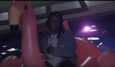 Happy 4/20, Here Is Wiz Khalifa on a Pink Flamingo Pool Toy