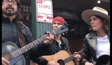 Watch Dave Grohl, Brandi Carlile Cover the Beatles' 'Let It Be' as Seattle Buskers
