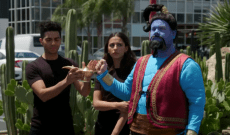Watch Will Smith, 'Aladdin' Cast Perform in a Crosswalk on 'Corden'