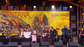 Watch Santana Perform 'Breaking Down the Door' on 'Kimmel'