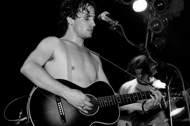 Jeff Buckley performs on stage at The Garage in London in September, 1994.