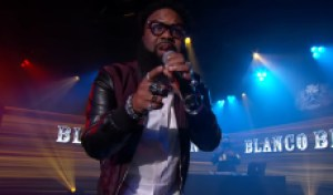 See Blanco Brown Sing 'The Git Up' on 'Kimmel'