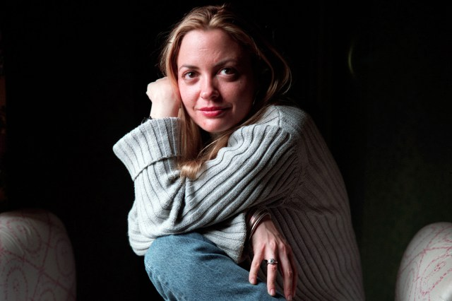 (Original Caption) Controversial UK Author Elizabeth Wurtzel who wrote 'Prozac Nation' 'Bitch' and her latest novel 'The Bitch Rules'.Her novels are expected to be (Photo by Neville Elder/Corbis via Getty Images)