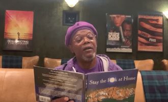 Watch Samuel L. Jackson Read 'Stay the F**k at Home' on 'Kimmel'